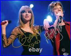 MICK JAGGER and TAYLOR SWIFT DUAL SIGNED AUTOGRAPH 8x10 PHOTO-ROLLING STONES