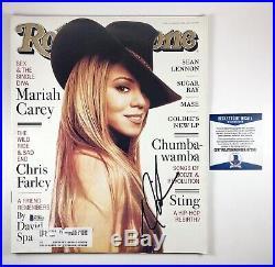 Mariah Carey Signed Autographed Rolling Stone Magazine Beckett COA