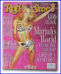 Mariah Carey Signed Autographed Rolling Stone Magazine February 2000 PSA V60574