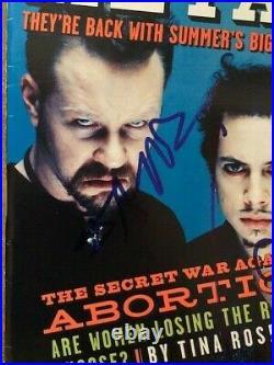 Metallica Hetfield Ulrich All 4 Signed Autographed 6/96 Rolling Stone BAS LOA