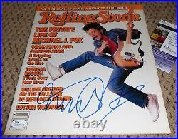 Michael J Fox Signed Rolling Stone Jsa Autograph Back To The Future Magazine