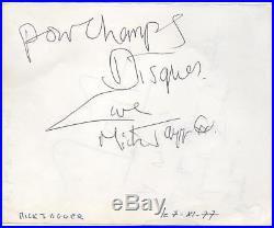 Mick JAGGER (Rolling Stones) & Jean Michel JARRE (Musician) Original Autographs