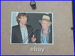 Mick Jagger Rolling Stones Autographed Signed CD Picture 6.5x12 Framed Display