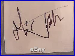 Mick Jagger Rolling Stones Signed Autograph 3.75X5 Cut Beckett Certified Slabbed