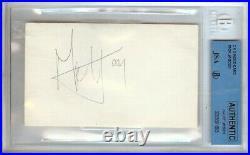 Mick Jagger Signed Autographed 3X5 Index Card Rolling Stones BGS Slabbed JSA