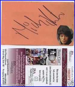 Mick Jagger Signed Autographed Index Card Jsa Coa The Rolling Stones Rare