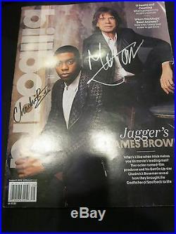 Mick Jagger Signed Magazine Rare! Coa Rolling Stones Chadwick Boseman Autograph