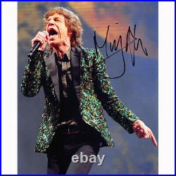 Mick Jagger The Rolling Stones (86740) Autographed In Person 8x10 with COA