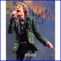 Mick Jagger The Rolling Stones (86741) Authentic Autographed 8x10 + COA