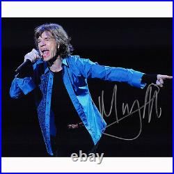 Mick Jagger The Rolling Stones (87183) Autographed In Person 8x10 with COA