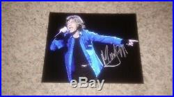 Mick Jagger autographed 8x10 Rolling Stones Signed COA