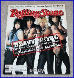 Nikki Sixx & Vince Neil Motley Crue Signed Authentic Rolling Stone Magazine Coa