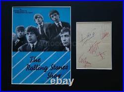 Original 1964 ROLLING STONES AUTOGRAPHS signed Brian Jones Keith Richards