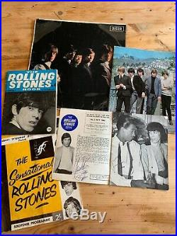 Original rolling stones memorabilia incl Charlie Watts autograph