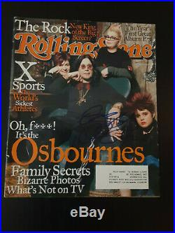 Ozzy Osbourne Autographed Signed May 2002 Rolling Stone Magazine Very Rare