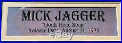 PSA/DNA Rolling Stones MICK JAGGER Autographed Signed Goats Head Soup Album