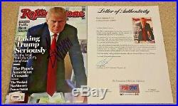 President Donald Trump Signed Rolling Stone Magazine Maga America Potus Psa