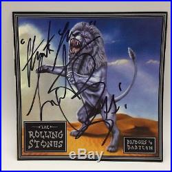 RARE Charlie Watts Rolling Stones Signed CD Album Cover + COA AUTOGRAPH