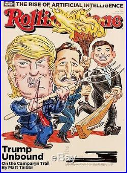 RARE SIGNED President Donald Trump full 3.10.2016 Rolling Stone magazine w COA