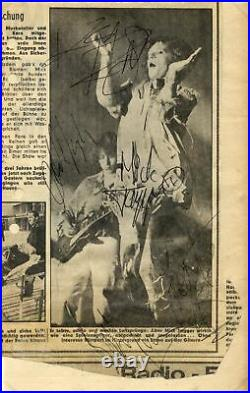ROCK BAND Rolling Stones autograph, signed newspaper clipping mounted