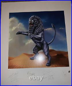 ROLLING STONES Bridges to Babylon 1997 Lithograph AUTOGRAPHED Signed Print