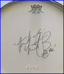 ROLLING STONES CHARLIE WATTS SIGNED DRUMHEAD 10 inch UACC RD