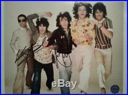 ROLLING STONES MICK JAGGER & KEITH RICHARDS Hand-Signed Autographed 8x10 with COA