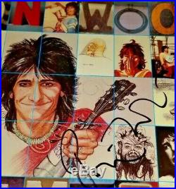 ROLLING STONES SIGNED by RONNIE WOOD! Photo proof AUTOGRAPHED RONNIE SOLO ALBUM