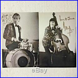 ROLLING STONES WATTS & WYMAN (2) BEAUTIFULLY AUTOGRAPHED photos PC438A