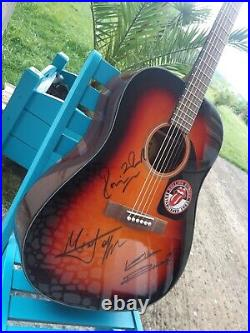 ROLLING STONES autograph guitare signed live MICK JAGGER, KEITH RICHARDS & RON