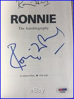 RONNIE WOOD Autographed Signed THE ROLLING STONES BOOK PSA DNA COA 1st ED
