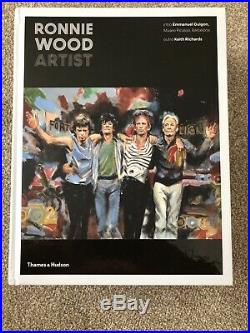 RONNIE WOOD HAND SIGNED NEW Mint HB 1/1 The Rolling Stones NOT A BOOK PLATE