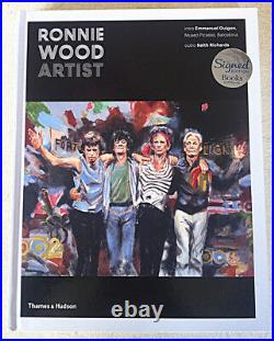 RONNIE WOOD HAND SIGNED NEW Mint HB 1st Ed The Rolling Stones NOT A BOOK PLATE