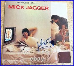 Rare Authentic Rolling Stones Signed Autographed Mick Jagger Just Another Night