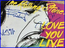 Rare Authentic Rolling Stones Signed Record Cover 4 Autographed Love You Love