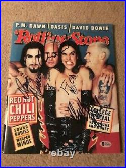 Red Hot Chili Peppers Signed Rolling Stone By 4 Autographed Auto Bas Not Psa