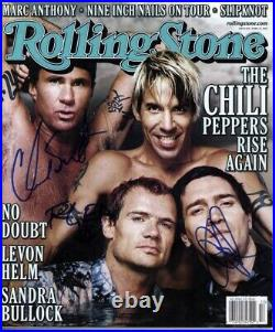 Red Hot Chili Peppers Signed Rolling Stone Magazine autographed x 3 Beckett BAS