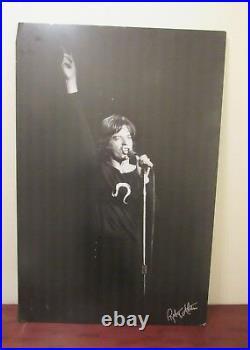 Robert Altman signed Mick Jagger photo / poster 35x24 Rolling Stones