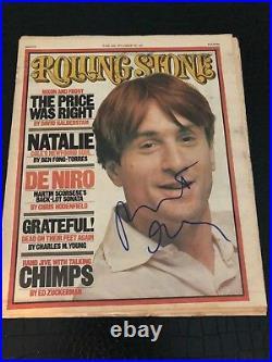 Robert De Niro Signed Rolling Stone Magazine