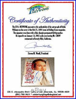 Robin Williams Signed Rolling Stone Magazine! In-person On 1/18/03 Ipa Coa