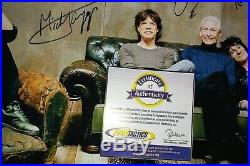 Rolling Stone's Autographed 11x17 Photo COA Mick Jagger Keith Richards
