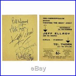 Rolling Stones 1963 Autographed Kayser Bondor Club Baldock Concert Ticket (UK)