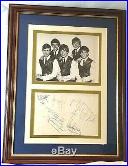 Rolling Stones- A Rare Collection Of All Original 5 Band Members Autographs