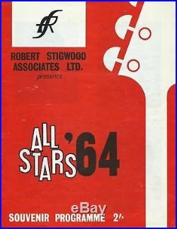 Rolling Stones Autograph A Superb Fully Signed All Stars 64 Programme /epperson