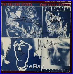 Rolling Stones Autographed'Emotional Rescue' LP COA #RS58751