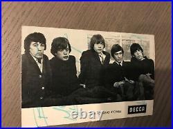 Rolling Stones Autographed Postcard