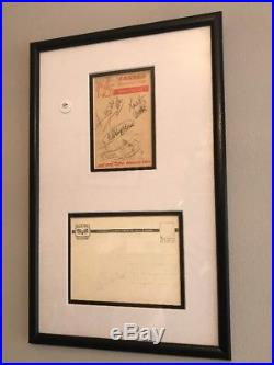 Rolling Stones Autographed Signed Page 1964 Fully Verified Inc Brian Jones