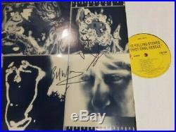 Rolling Stones- Autographed x All 5 Members! - LP EMOTIONAL RESCUE-vinyl rare