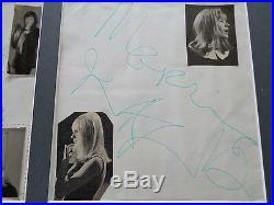 Rolling Stones Autographs Mick Jagger +marianne Faithfull Germany 1967 + Photos