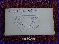 Rolling Stones Autographs/Signed Brian Jones Keith Richard Mick Jagger 1963 Rare
